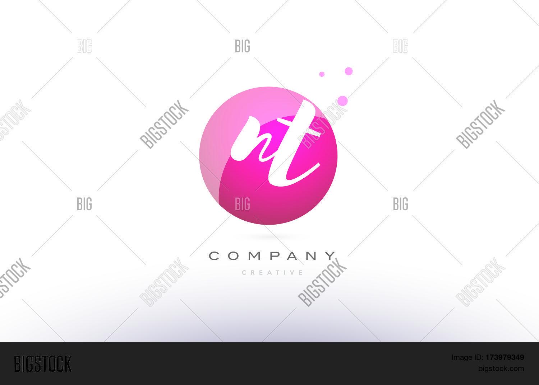 Nt N T Sphere Pink 3d Vector Photo Free Trial Bigstock