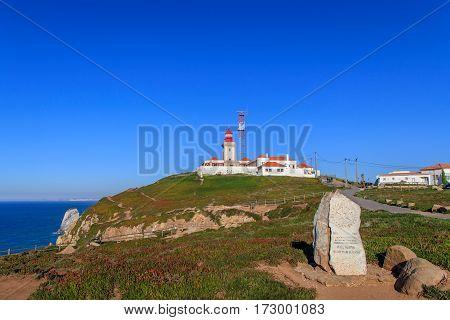View of Cabo da Roca in Portugal