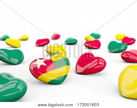 Heart With Flag Of Togo Isolated On White