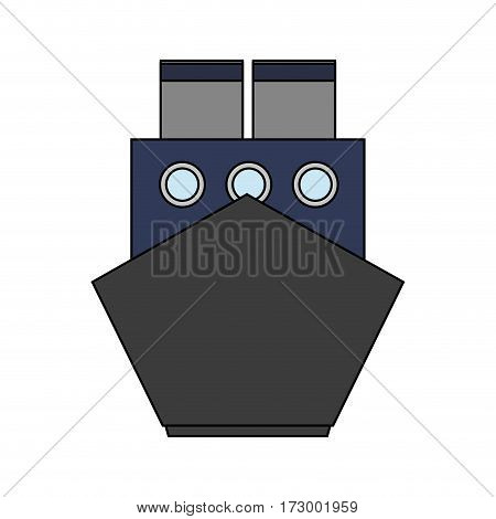 ship frontview icon image vector illustration design