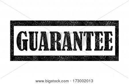 Grunge rubber stamp with text Guarantee. Guarantee grunge rubber stamp on white background.