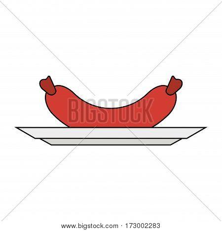 single sausage icon image vector illustration design