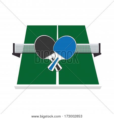 ping pong sport emblem vector illustration design