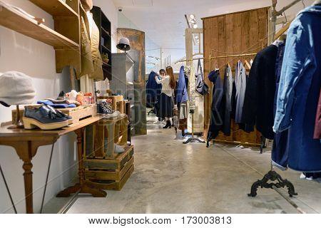 HONG KONG - CIRCA NOVEMBER, 2016: initial store in Hong Kong. Shopping is a widely popular social activity in Hong Kong.