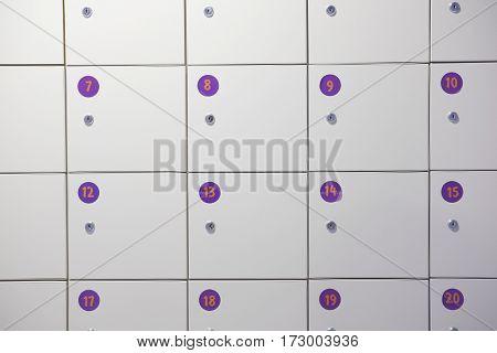 Boxes of locker close up