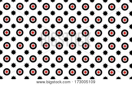 abstract geometric round flower background seamless pattern