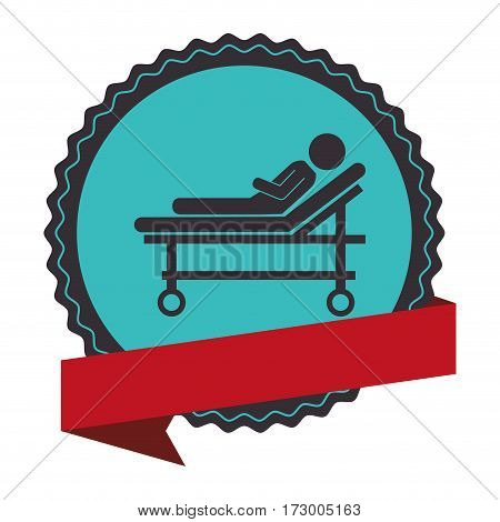 stretcher medical isolated icon vector illustration design