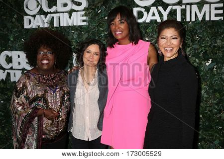 LOS ANGELES - OCT 10:  Sheryl Underwood, Sara Gilbert, Aisha Tyler, Julie Chen at the CBS Daytime #1 for 30 Years Exhibit Reception at the Paley Center  on October 10, 2016 in Beverly Hills, CA