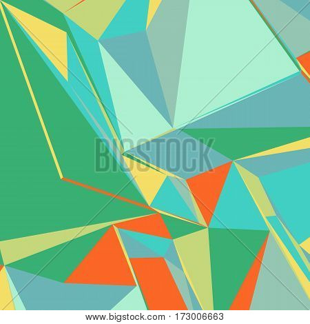 Abstract background with colorful triangles for magazines, booklets or mobile phone lock screen