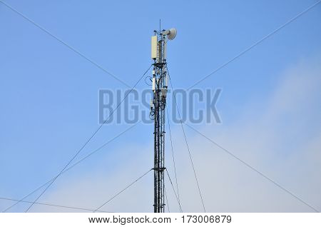 Telecommunications Tower For The Transmission Of Radio Waves