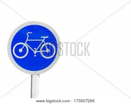 bike lane sign and symbols isolate on white background