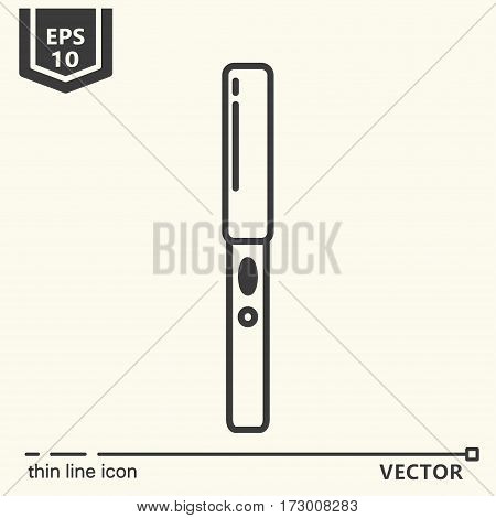 Hairdressing tools. Icons series. Hair straightener. Isolated object EPS 10