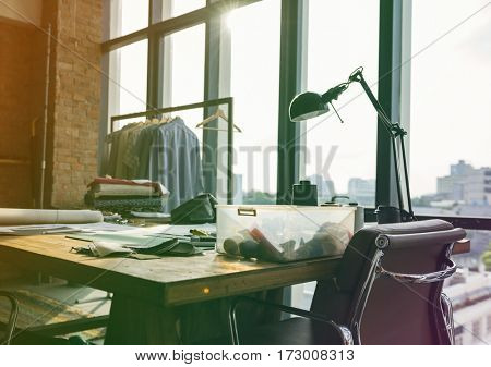 Fashion designer workspace office contemporary style