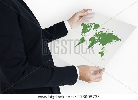 International Business World Map Icon