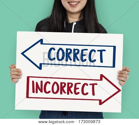 Arrows Opposite Choice Correct Solution Icon
