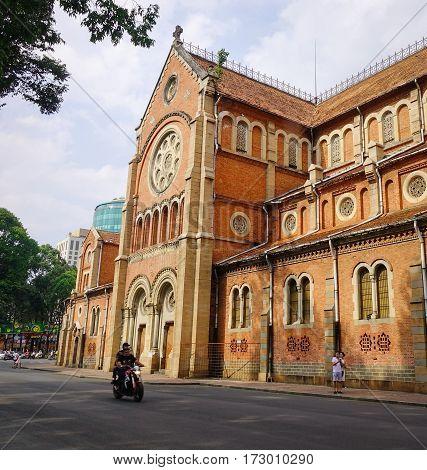 Notre Dame Cathedral In Saigon, Vietnam