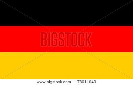 German Flag, National German Flag Vector illustration