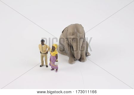 Plastic Toy Of Animal And Figure