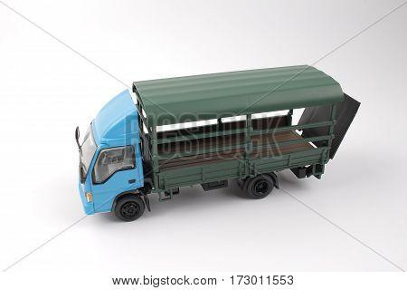 Truck, Dump Truck On White Background