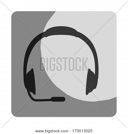 headset call center device vector illustration design
