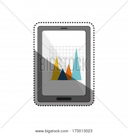statistic graph report icon vector illustration graphic design