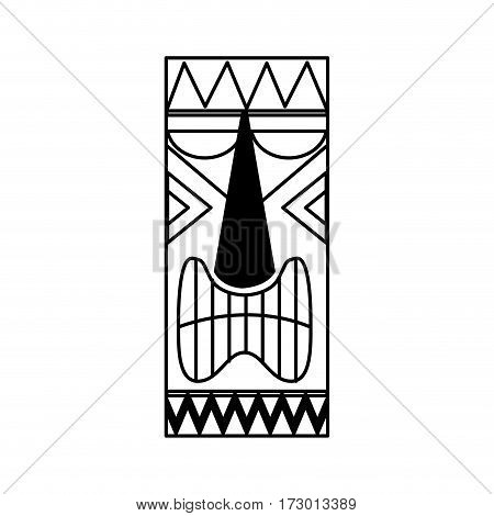 hawaii token culture icon vector illustration design