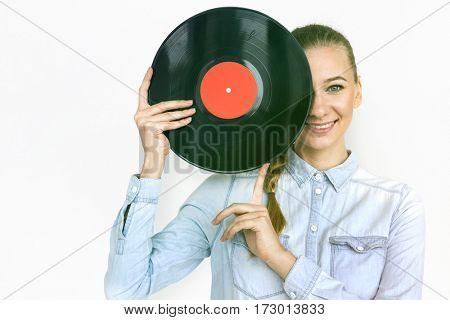 Woman Hands Show Music Record Portrait Studio