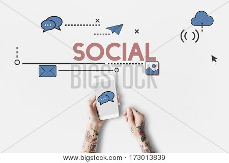 Social Media Get In Touch Online