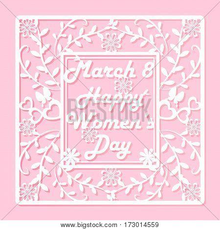 cute cartoon card with happy womens day