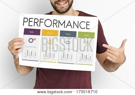 Development Success Performance Graphic Word Icon