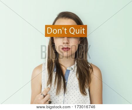 Dont Quit word young people