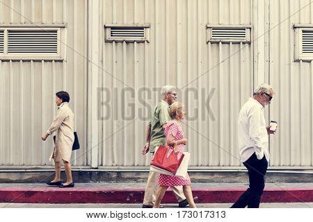 Senior Adult Shopping Bags Lifestyle