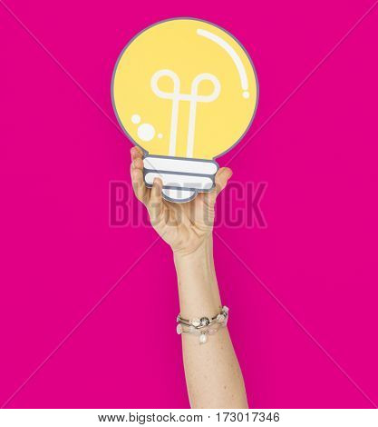 Human Hand Holding Lightbulb Papercraft
