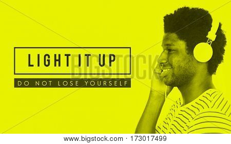Light It Up Yourself Icon Word Motivation