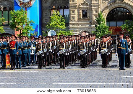 MOSCOW - MAI 9: Parade formation on Red Square -  on Mai 9, 2016 in Moscow