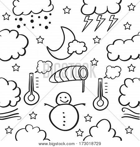 Doodle of weather design vector collection stock