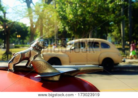 Antique car that dazzles by its beauty and good care