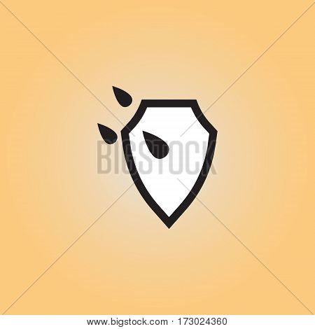 Waterproof flat vector icon. Isolated waterproof vector sign.
