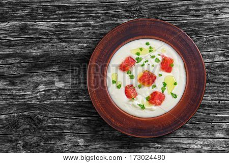 Hot Creamy Spicy Smoked Salmon Soup