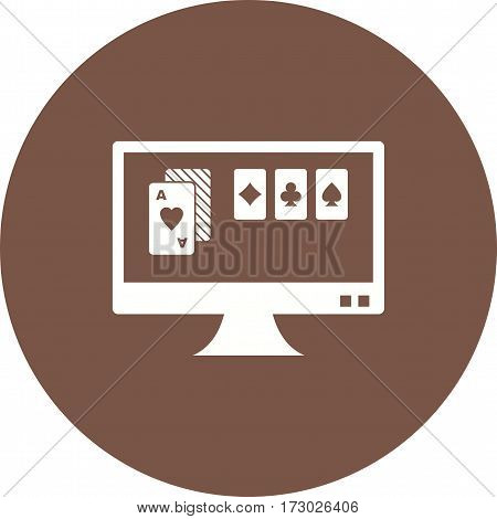 Gambling, online, casino icon vector image. Can also be used for casino. Suitable for use on web apps, mobile apps and print media.