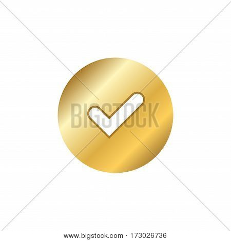 Tick Gold Sign Element