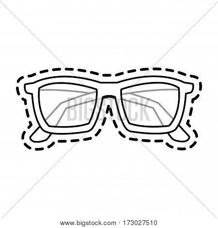 glasses frame icon image vector illustration design