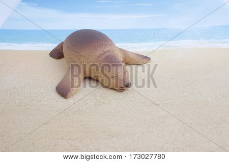 Plastic Sea Lion Toy With Figure