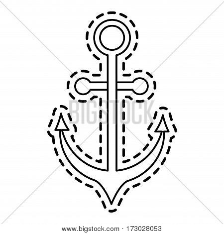 anchor sticker icon image vector illustration design