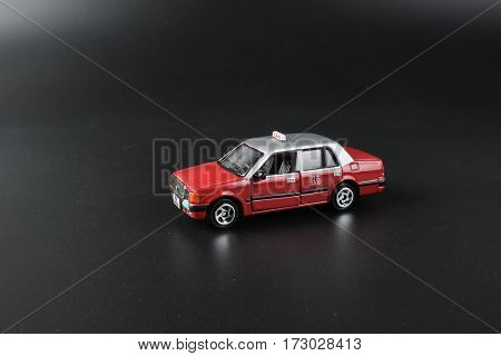 Toys Of Taxi At The Background