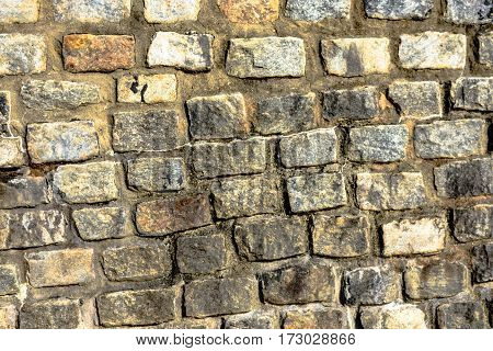 Natural textured stone wall as a background