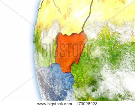 Nigeria On Model Of Earth