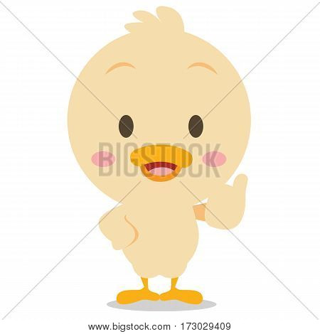 Character standing duck vector art collection stock