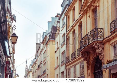 old fashioned paris france - with space for text or image
