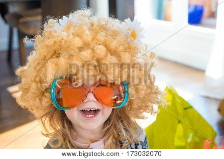 Funny Child Disguised As Sixties